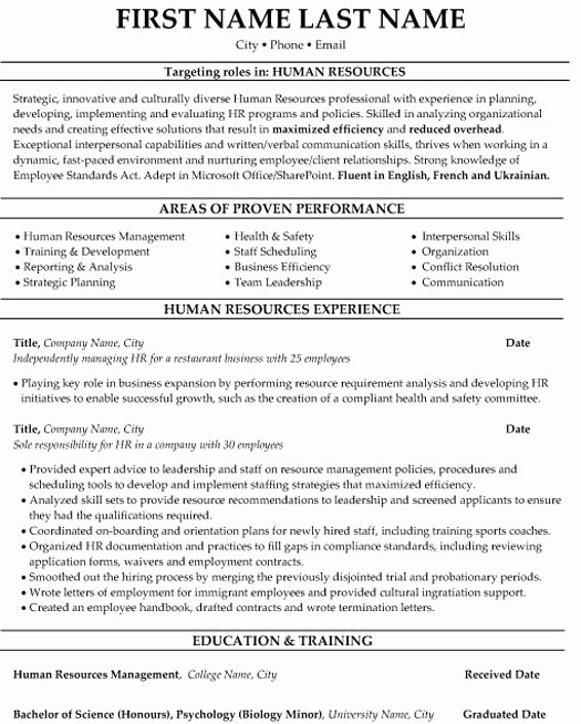 Human Resources Manager Resume Lovely top Human Resources Resume Templates & Samples
