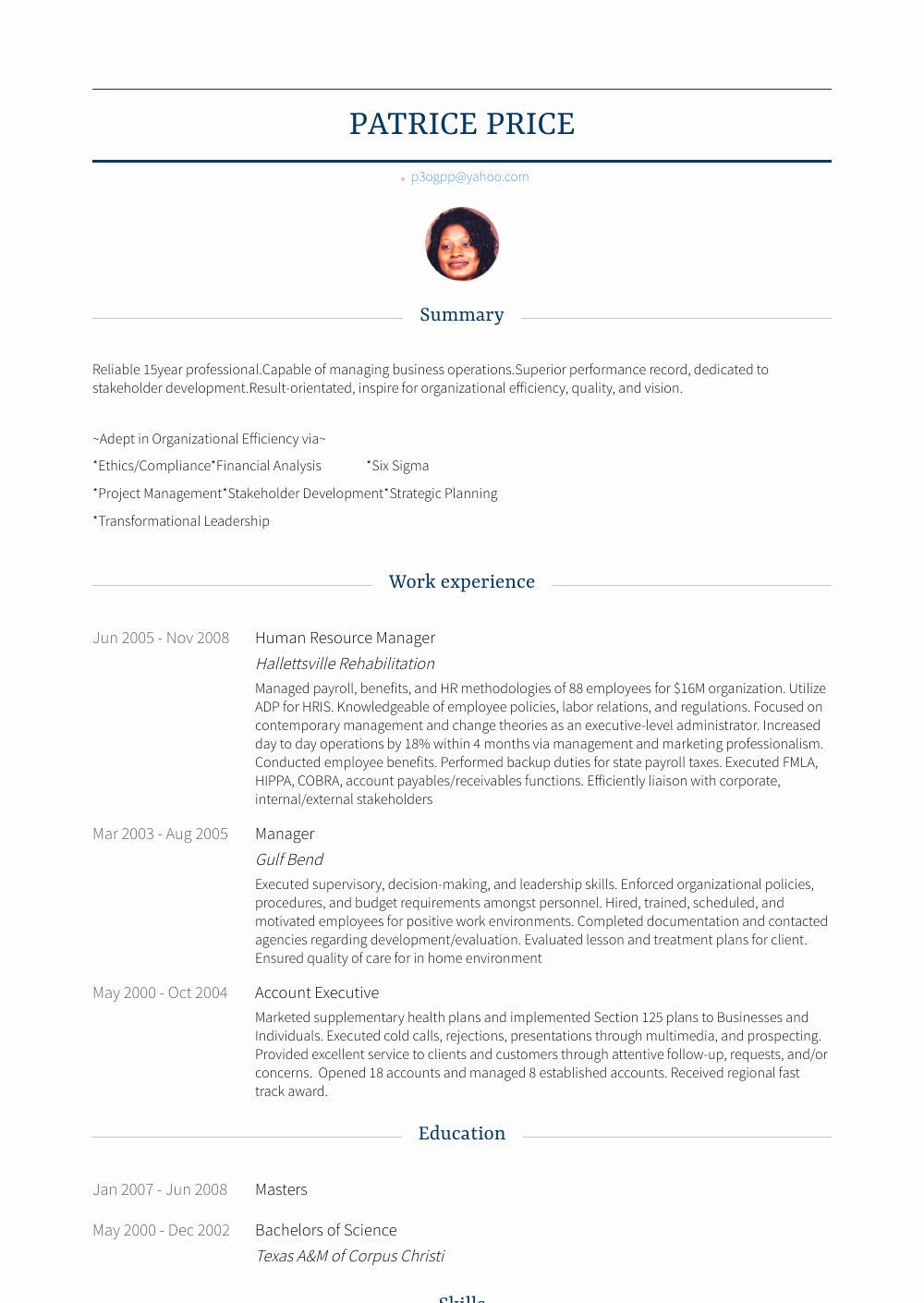 Human Resources Manager Resume New Human Resource Manager Resume Samples & Templates