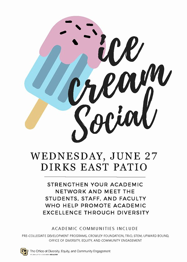 Ice Cream social Flyer Beautiful Ice Cream social Promotional Flyer On Behance