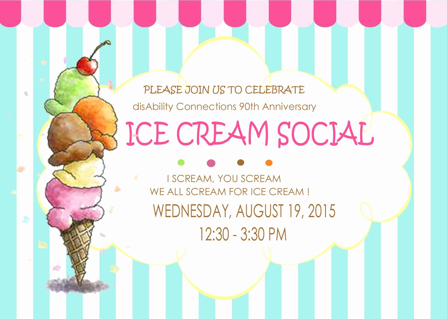 Ice Cream social Flyer Best Of Disability Connections Inc Ice Cream social 90th