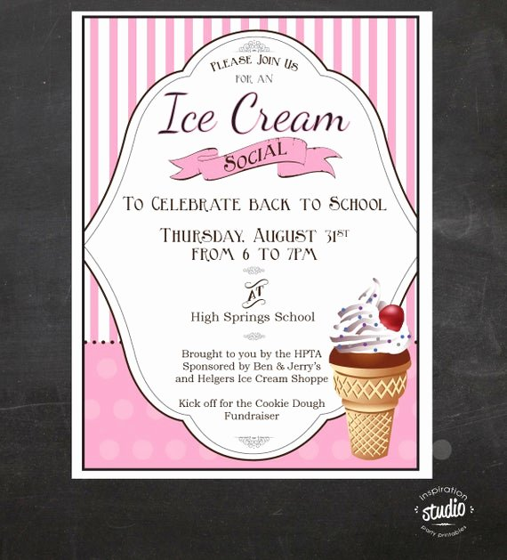 Ice Cream social Flyer Best Of Ice Cream social event Flyer Back to School Ice Cream social