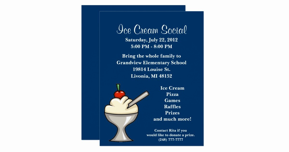 Ice Cream social Flyer Best Of Ice Cream social Flyer Card