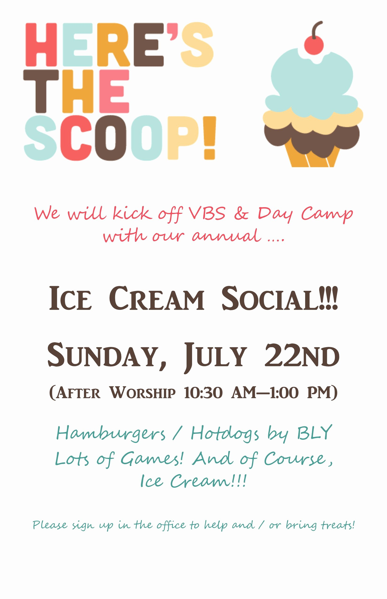 Ice Cream social Flyer Best Of Ice Cream social