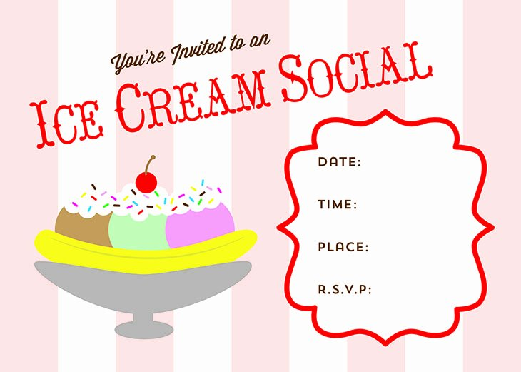 Ice Cream social Flyer Elegant Free Printable Ice Cream social Invite