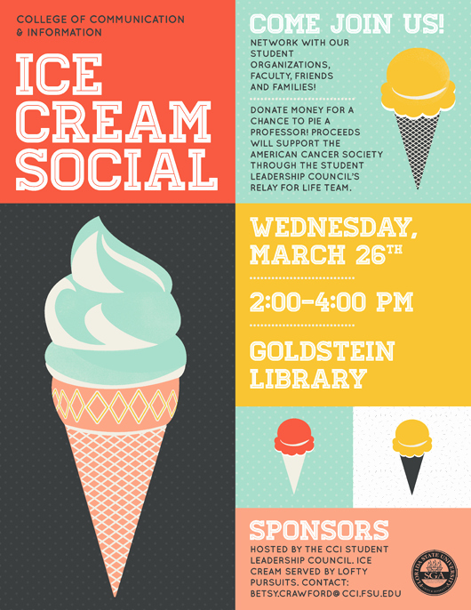 Ice Cream social Flyer Fresh Cci Spring Ice Cream social On March 26 From 2 4 P M