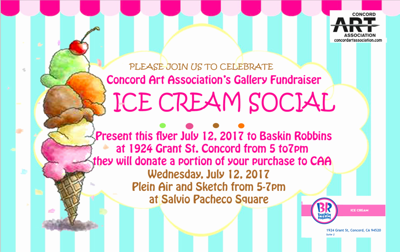 Ice Cream social Flyer Fresh Concord Art association