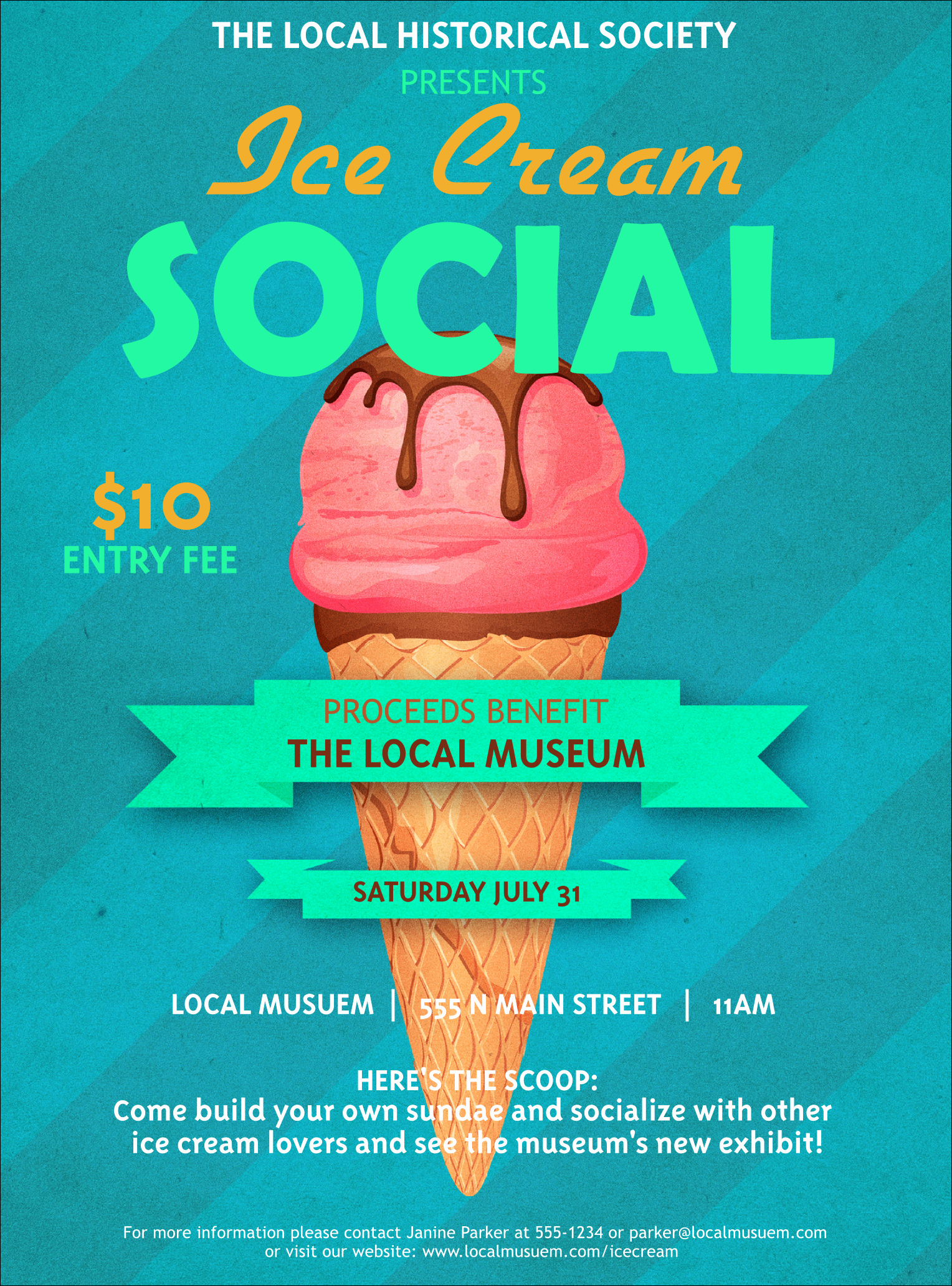 Ice Cream social Flyer Fresh Ice Cream social Flyer