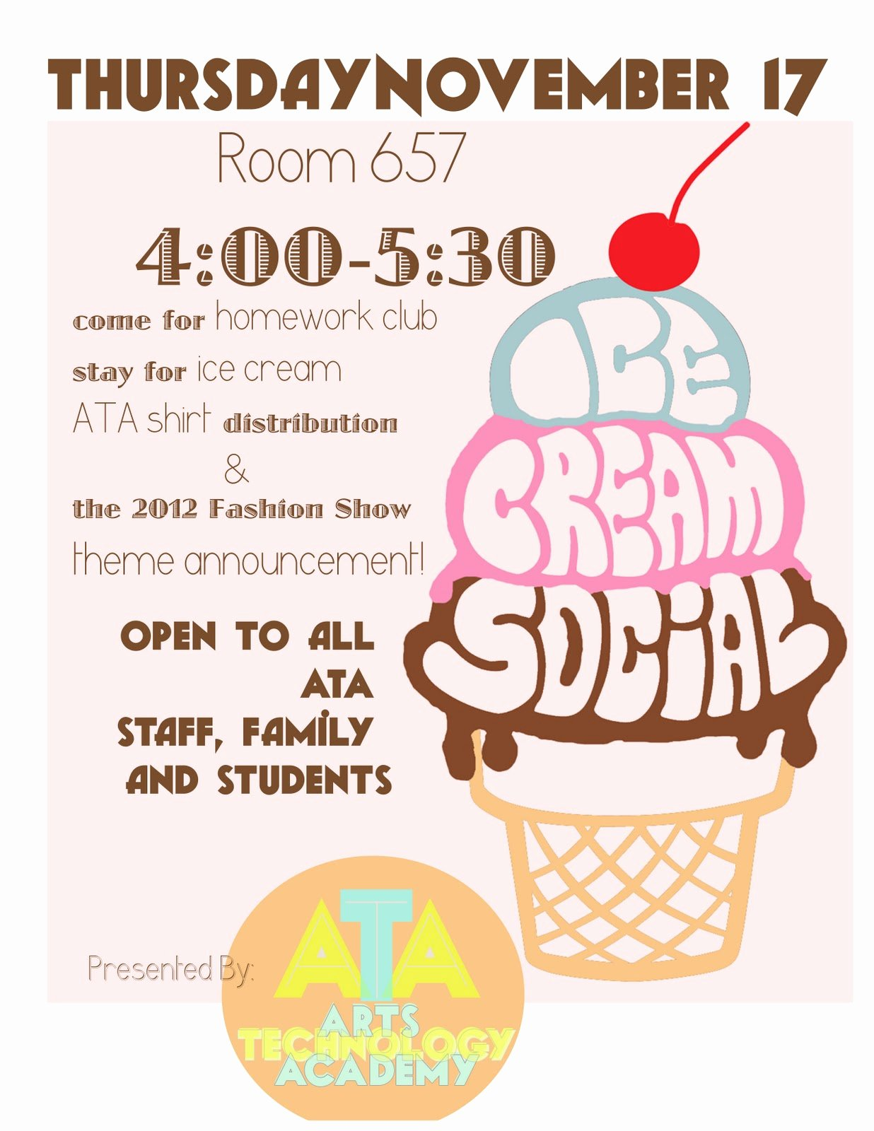 Ice Cream social Flyer Lovely Ice Cream Ice Cream social