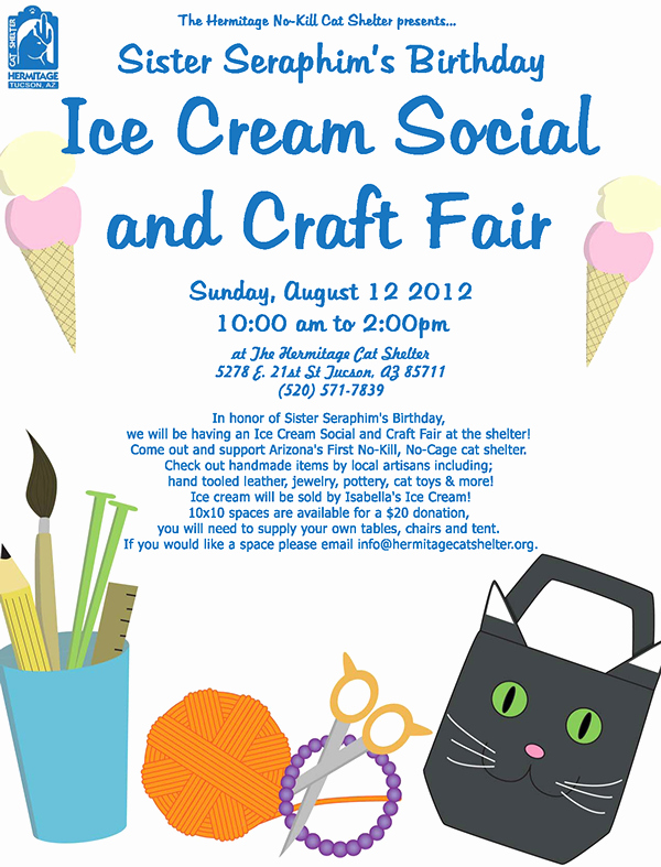Ice Cream social Flyer Lovely Ice Cream social and Craft Fair On Behance