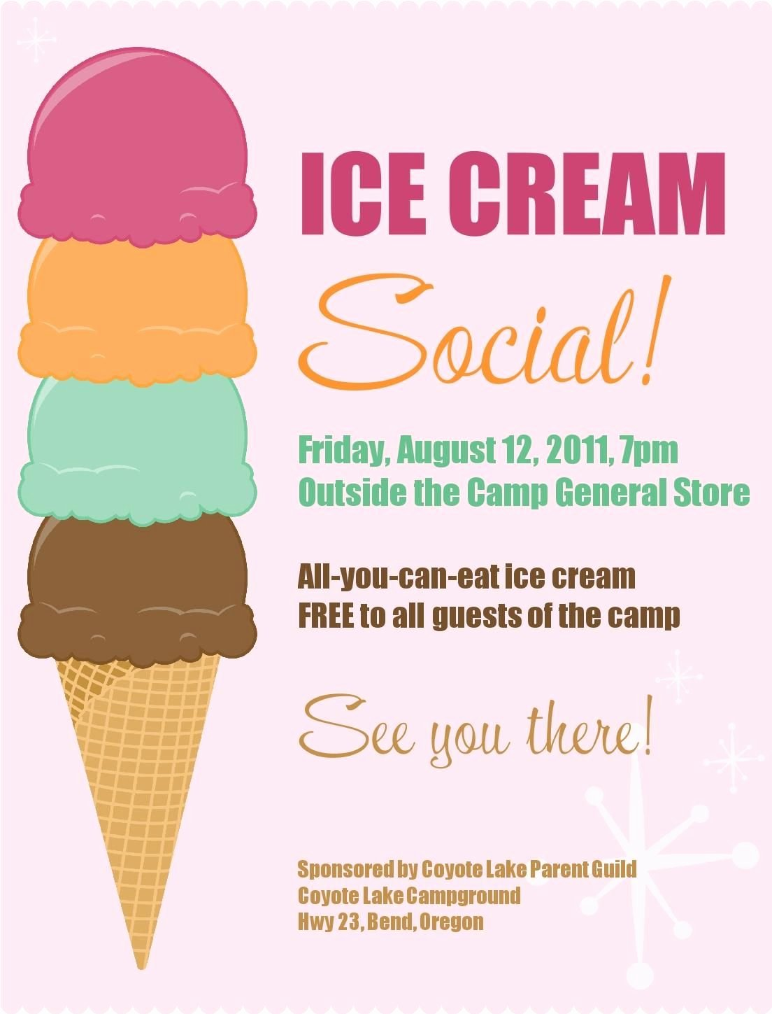 Ice Cream social Flyer Lovely Ice Cream social Free Printable Pta Ideas