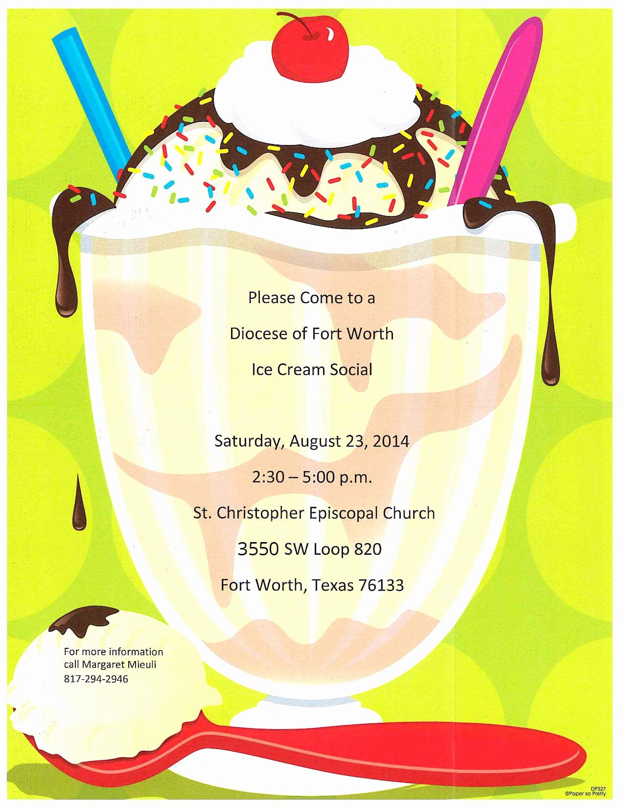 Ice Cream social Flyer Luxury Yum E to An Ice Cream social at St Christopher On