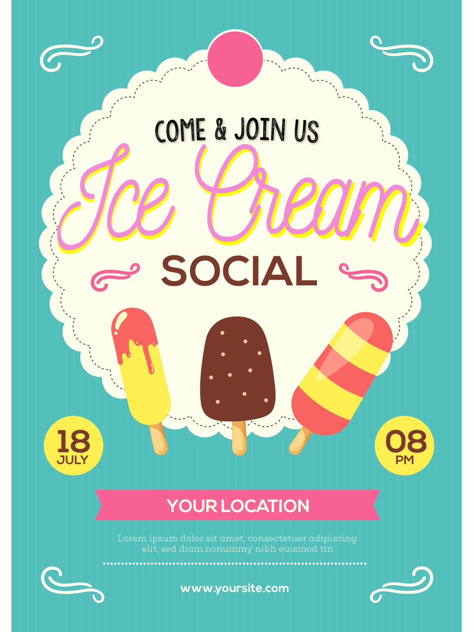 Ice Cream social Flyer New Ice Cream social Flyer