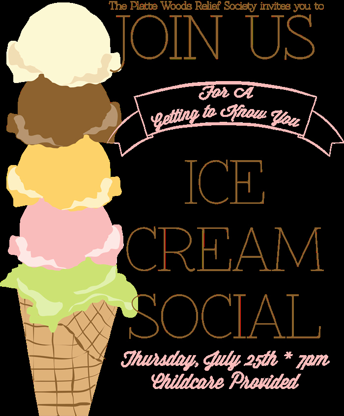 Ice Cream social Flyer Unique Ice Cream social Poster Handmade In the Heartland