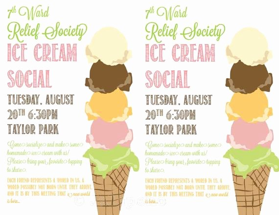ice cream social flyer invitation