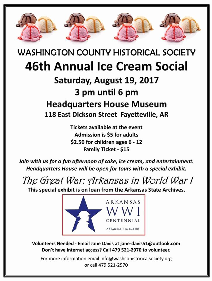 Ice Cream social Flyer Unique Washington County Historical society's Annual Ice Cream