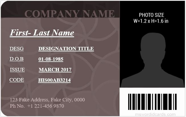 Id Card Template Word Awesome 5 Best Fice Id Card Templates Ms Word
