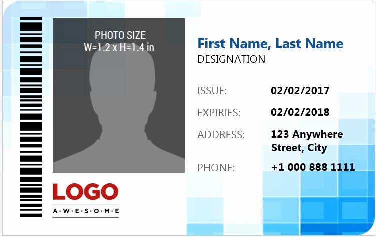 Id Card Template Word Awesome Ms Word Id Badge Sample Template