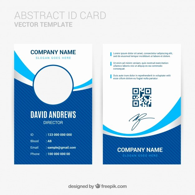 Id Card Template Word Beautiful Abstract Id Card Template with Flat Design Vector