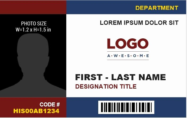 Id Card Template Word Beautiful Employee Identification Card Templates Ms Word