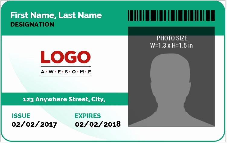 Id Card Template Word Beautiful Ms Word Id Badge Sample Template
