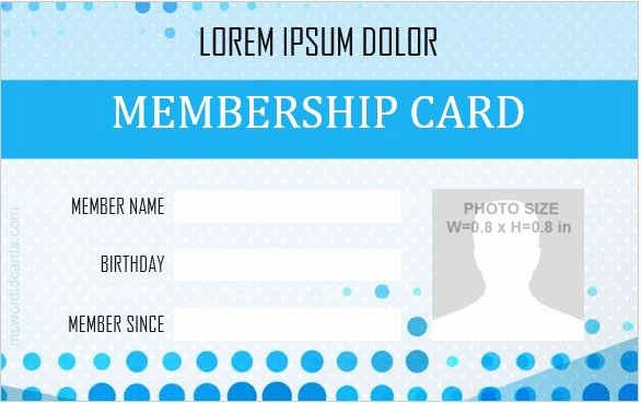 Id Card Template Word Elegant 5 Best Membership Id Badge Templates for Ms Word