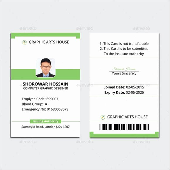 Id Card Template Word Fresh 19 Id Card Templates for Badges Word Excel Samples