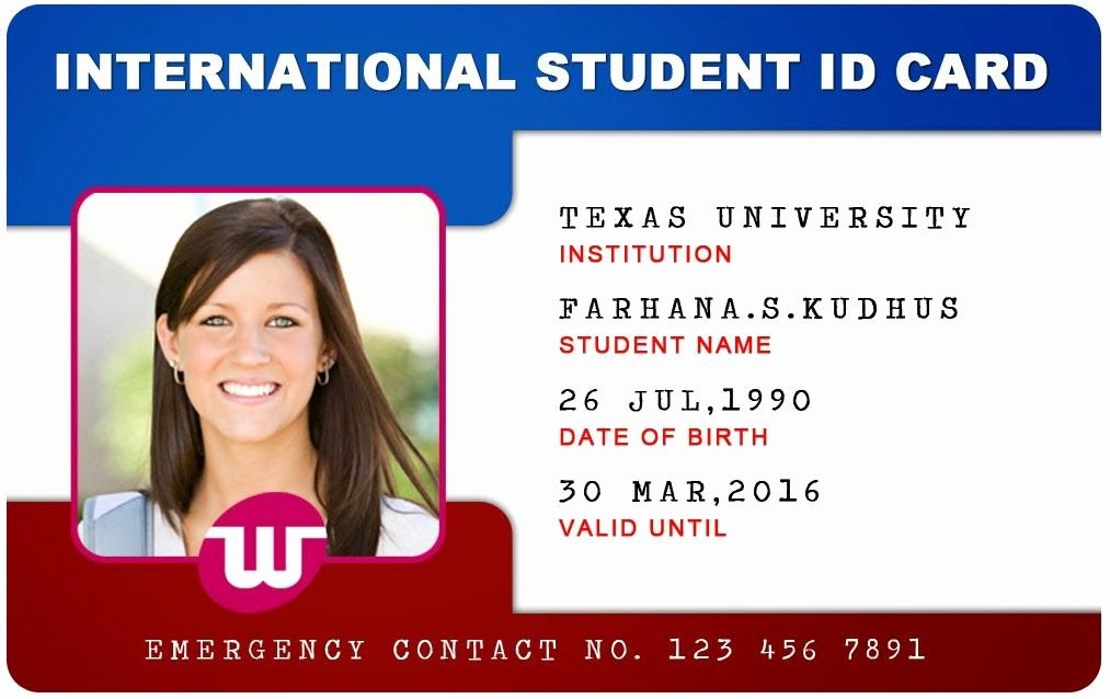 Id Card Template Word Inspirational Beautiful Student Id Card Templates Desin and Sample Word
