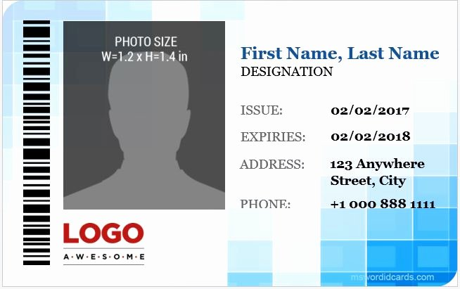 Id Card Template Word Lovely 5 Best Corporate Professional Id Card Templates