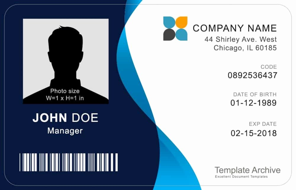 Id Card Template Word Unique 16 Id Badge & Id Card Templates Free Template Archive