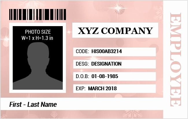 Id Card Template Word Unique Employee Identification Card Templates Ms Word