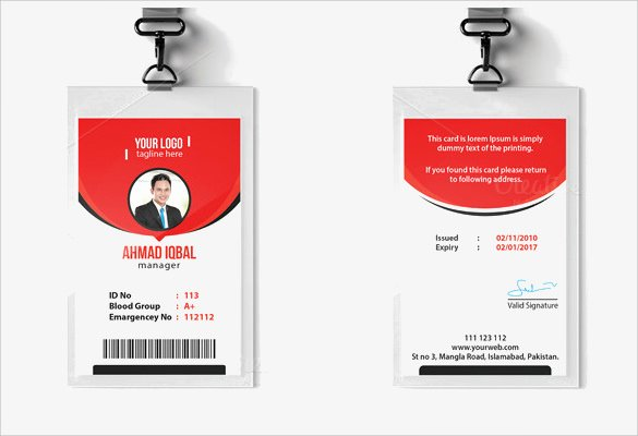 Id Card Template Word Unique Id Card Template 19 Download In Psd Pdf Word