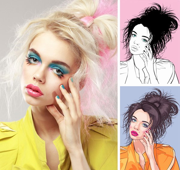Illustrator Tutorials for Beginners Best Of Vector Portraits for Beginners A Free Tuts Course