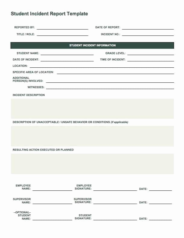 Incident Report Template Word Best Of Free Incident Report Templates Smartsheet
