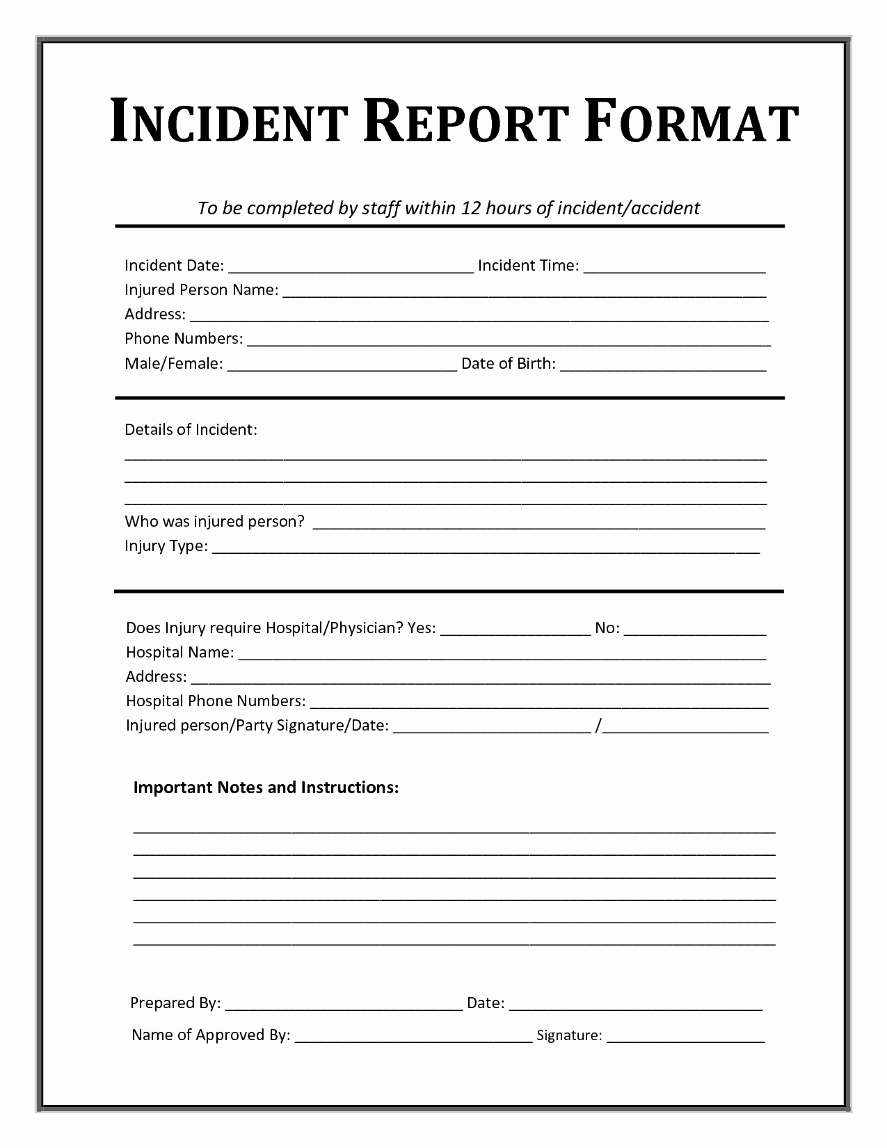 Incident Report Template Word Elegant 13 Incident Report Templates Excel Pdf formats