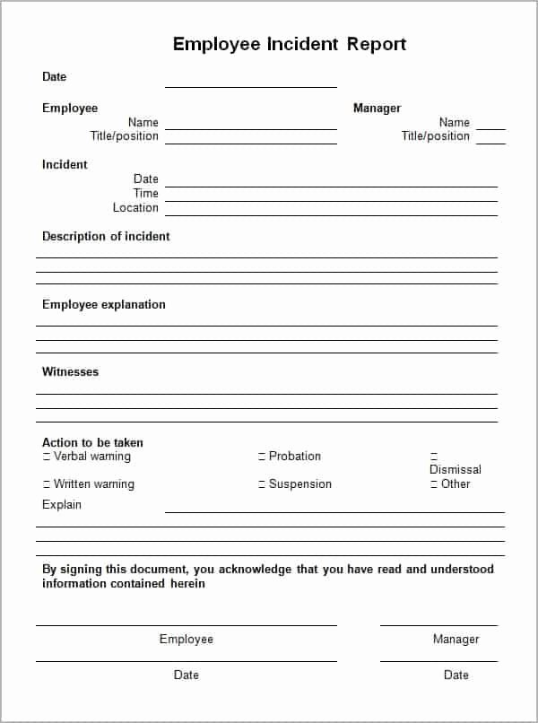 Incident Report Template Word Fresh 10 Incident Report Templates Word Excel Pdf formats