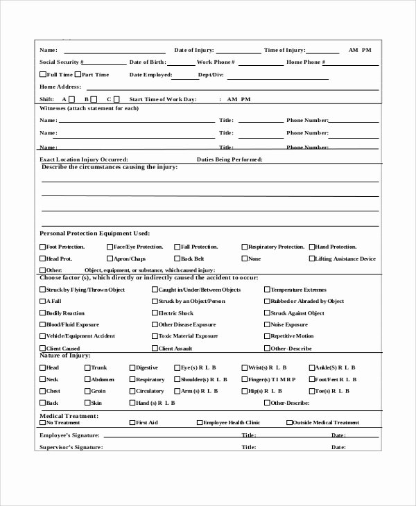 Incident Report Template Word Lovely Employee Incident Report form Doc