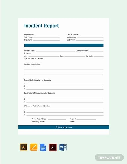 Incident Report Template Word Lovely Free 42 Incident Report Examples & Samples In Pdf