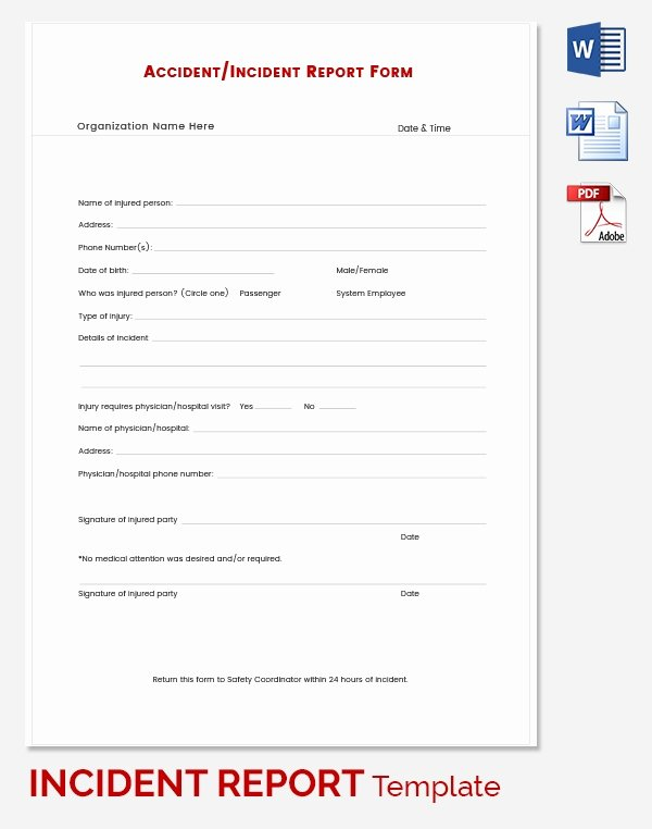 Incident Report Template Word Lovely Incident Report Template 39 Free Word Pdf format