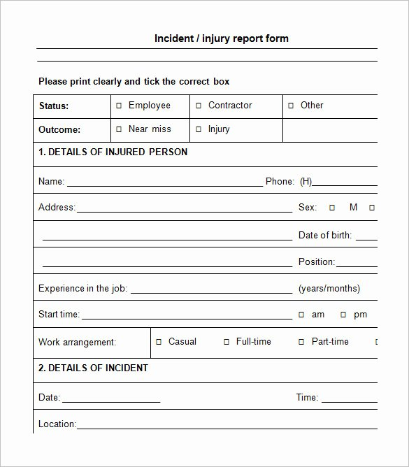 Incident Report Template Word New 14 Employee Incident Report Templates Pdf Doc