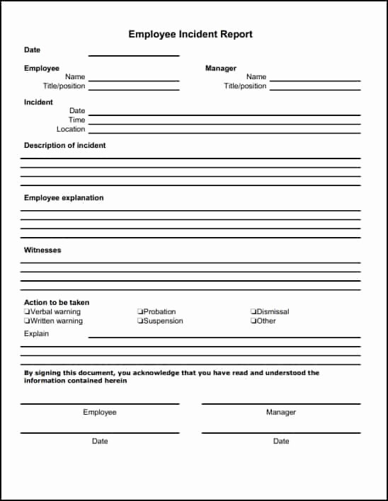 Incident Report Template Word Unique 13 Incident Report Templates Excel Pdf formats