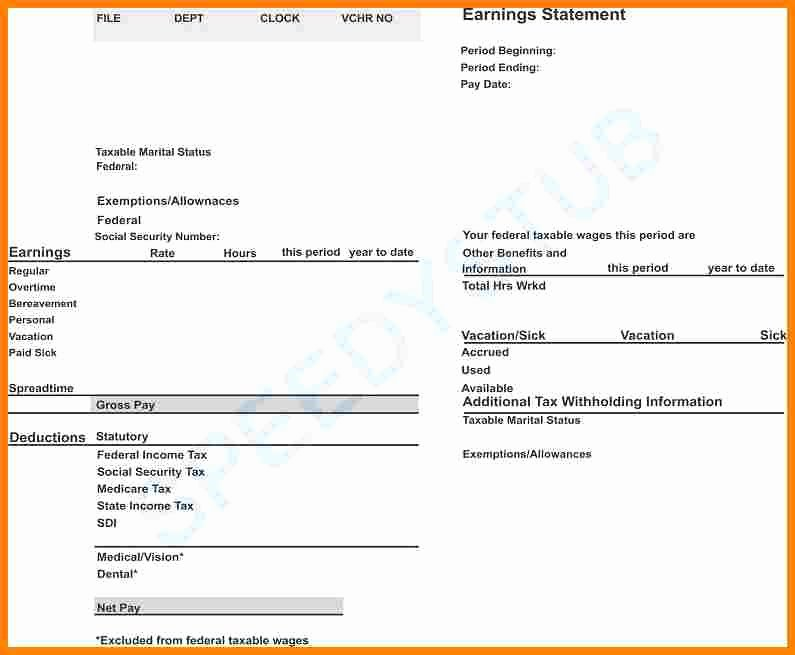 Independent Contractor Pay Stub Template Beautiful 5 Subcontractor Pay Stub