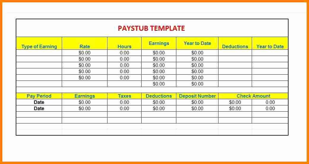 Independent Contractor Pay Stub Template Elegant 12 Contractor Pay Stub Template