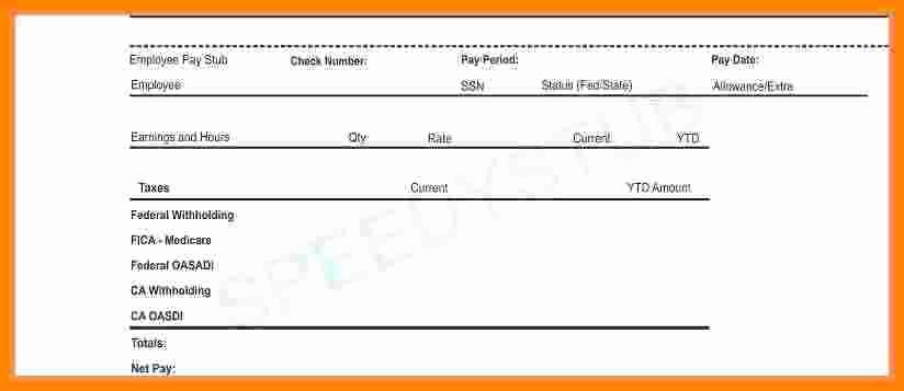 Independent Contractor Pay Stub Template Fresh 12 Contractor Pay Stub Template