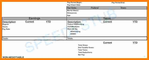 Independent Contractor Pay Stub Template Inspirational 5 Contractor Pay Stub