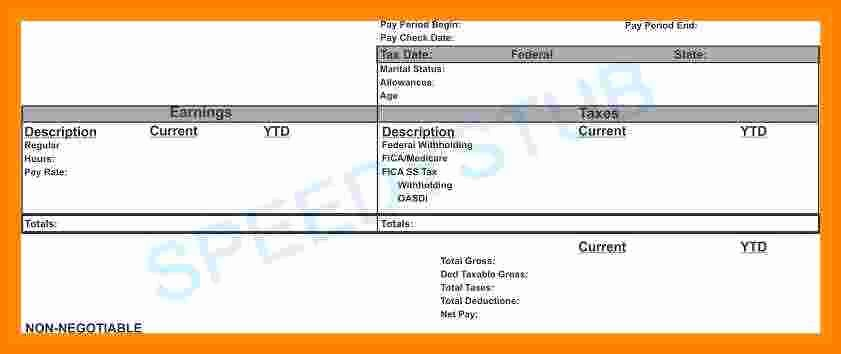 Independent Contractor Pay Stub Template Inspirational 5 Independent Contractor Pay Stub Template