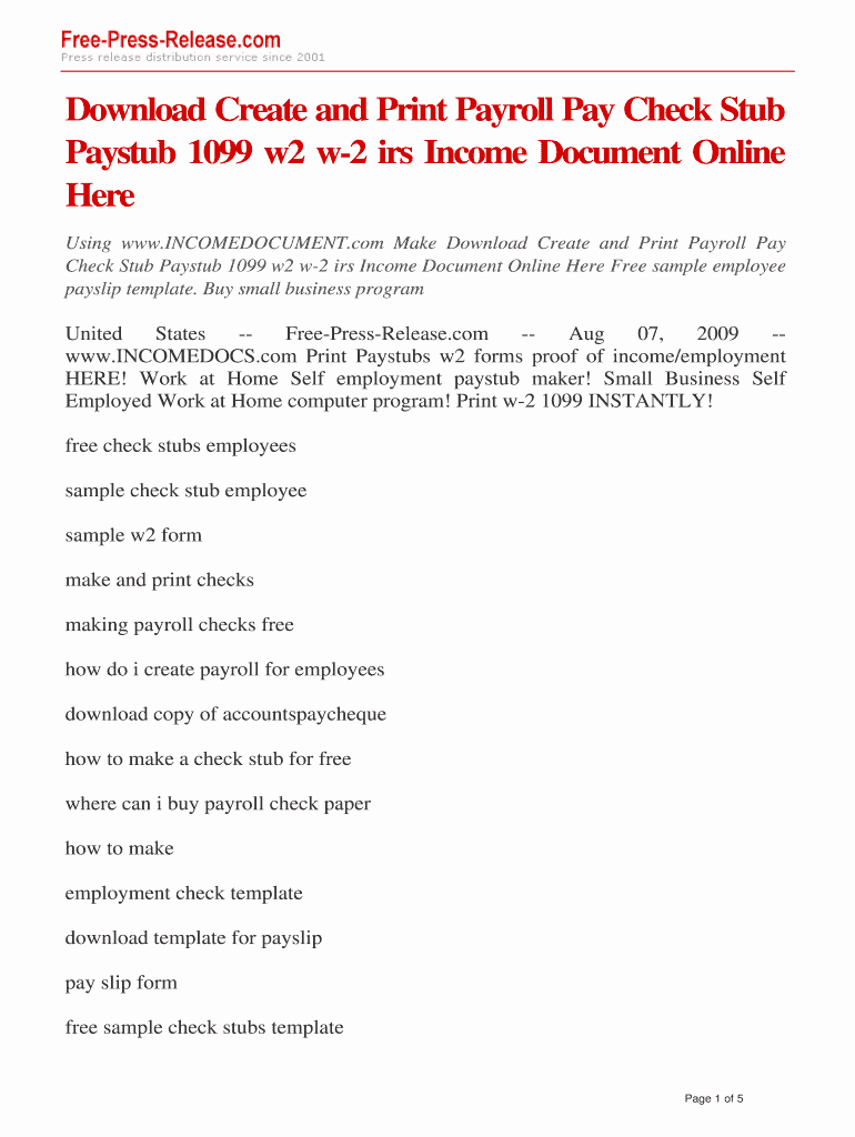 Independent Contractor Pay Stub Template Lovely Free Paystub Generator for Self Employed Fill Line