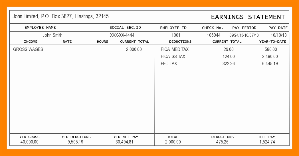 Independent Contractor Pay Stub Template Luxury 7 Independent Contractor Pay Stub Template