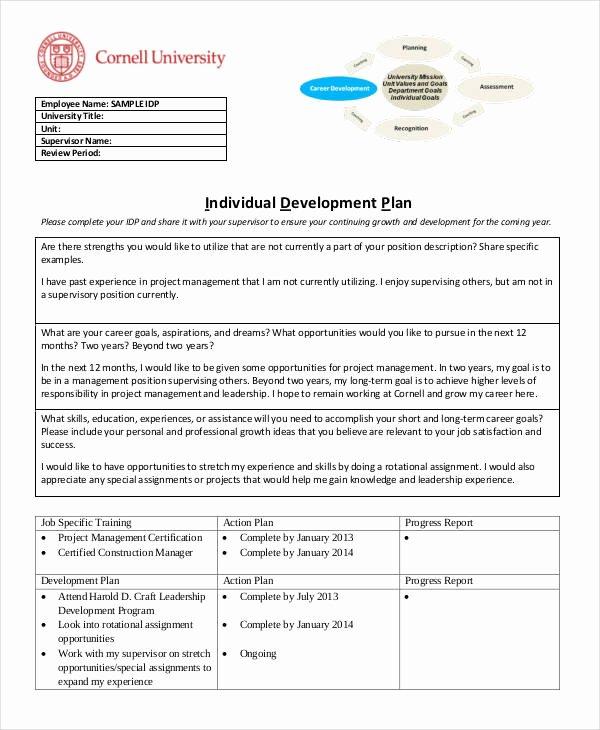 Individual Developent Plan Template Beautiful 15 Individual Development Plan Templates Free Sample