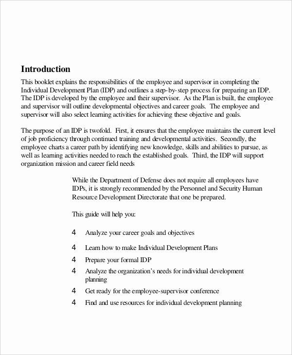 Individual Development Plan Examples Elegant Free 18 Individual Development Plan Examples & Samples In