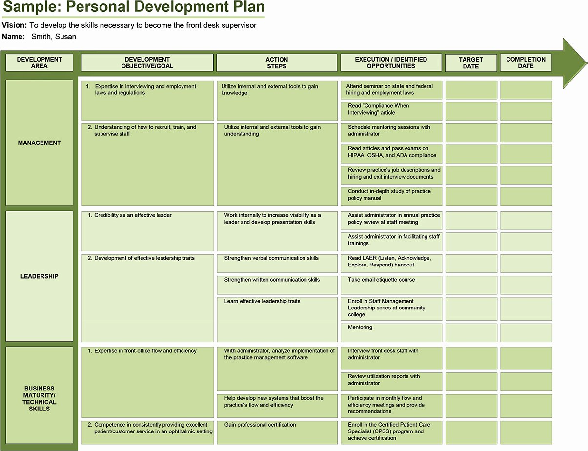 Individual Development Plan Examples Elegant Ophthalmic Professional Create A Personal Development Plan